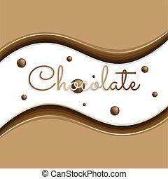 背景, 陰, 碑文, チョコレート