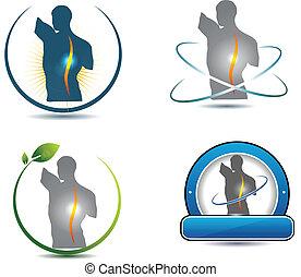 脊柱, シンボル, 健康