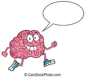 脳, ジョッギング, 特徴, 話し