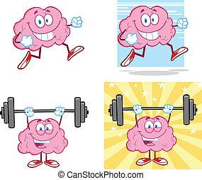 脳, マスコット, 14, コレクション, 漫画