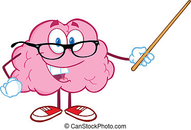 脳, 微笑, ポインター, 保有物