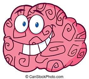 脳, 微笑, 特徴