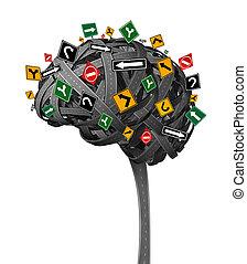 脳, 方向