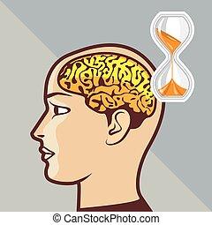 脳, 考え, プロセス