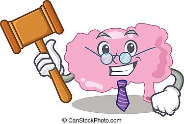 脳, 身に着けていること, 裁判官, ガラス, デザイン, 賢い, マスコット