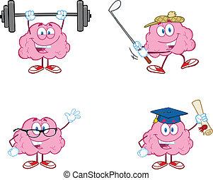 脳, 2, 漫画, コレクション, マスコット