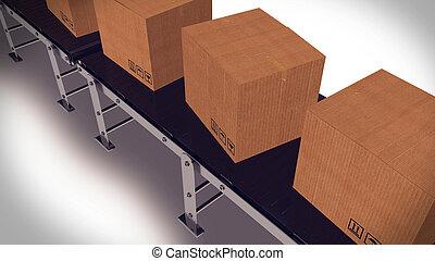 自動化された, 出荷, warehouse.