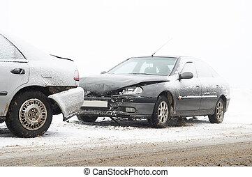 自動車事故, 衝突