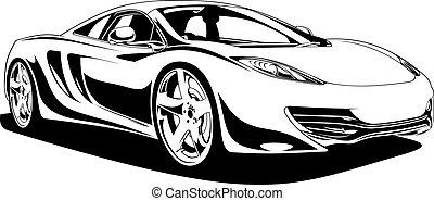 自動車, スポーツ, オリジナル, 私, デザイン