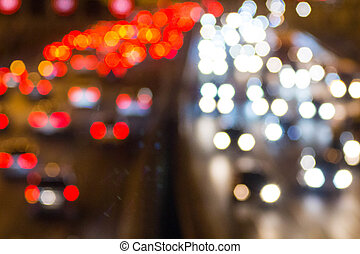自動車, ヘッドライト, フォーカス, ハイウェー, から