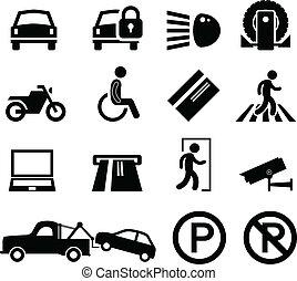 自動車, メモ, 駐車, 公園, 区域