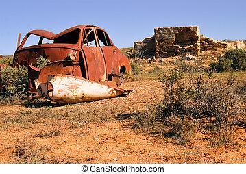 自動車, 古い, 台なし