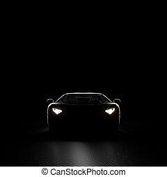 自動車, 背景, 3d