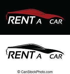 自動車, 賃貸料, ロゴ