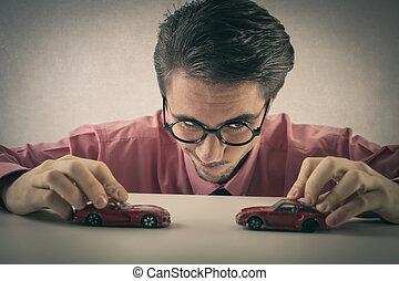 自動車, 遊び, 人