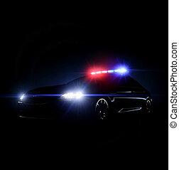 自動車, 配列, フルである, 警察, lightsq