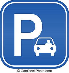 自動車, 駐車場サイン