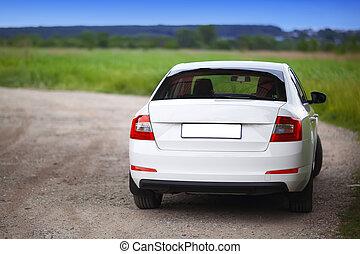 自動車, rear-side, 光景