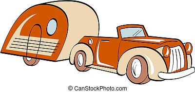 自動車, rv, キャンパートレーラー, キャンプ