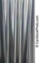 自然主義的である, curtains., 灰色, 勾配, カラフルである, illustration.