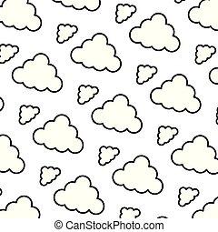 自然, ふんわりしている, 背景, 線, 雲, すてきである