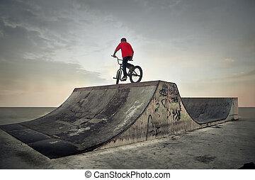 自転車, 人