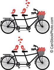 自転車, 愛, ベクトル, 鳥