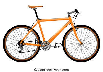 自転車, illustration.