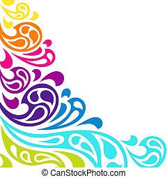 色, バックグラウンド。, 抽象的, はね返し, 波
