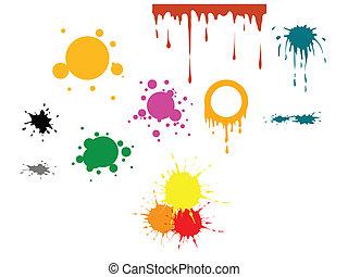 色, ベクトル, 点
