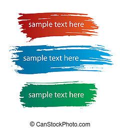色, ペンキ, しみになる, 筋, インク