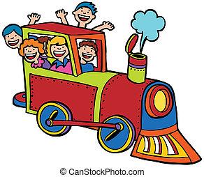 色, 乗車, 列車, 漫画