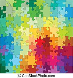 色, 困惑, ジグソーパズル