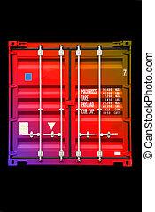 色, 多色刷り, 01, 容器