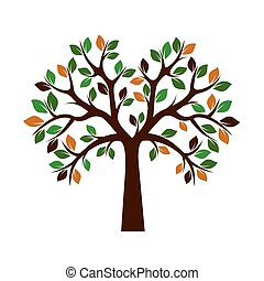 色, 木。, illustration., ベクトル