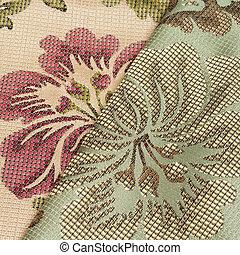 花のパターン, 生地, 背景