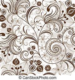 花のパターン, 繰り返すこと, white-brown