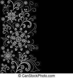 花のパターン, 背景