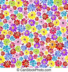 花のパターン, seamless, 鮮やか