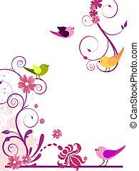 花の意匠, 鳥
