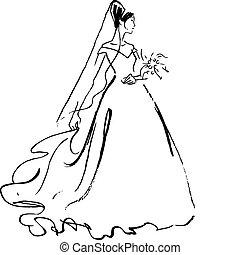 花嫁, 図画