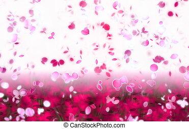 花弁, 抽象的, 積雪量, sakura, 背景