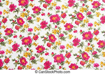 花木型, bouquet., seamless, cloth., 花