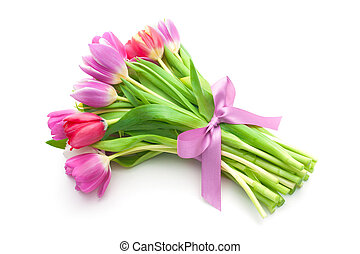 花束, チューリップ, 花, 春