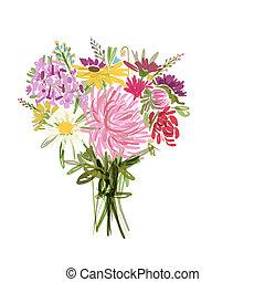 花束, 夏, デザイン, あなたの, 花