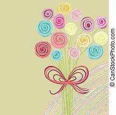 花束, 抽象的, 花