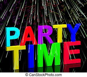 花火, 単語, 提示, ディスコ, クラブ通い, nightlife, 時間, パーティー, ∥あるいは∥