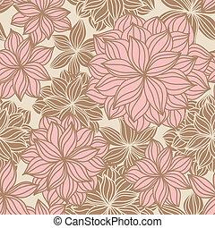 花, いたずら書き, seamless, パターン