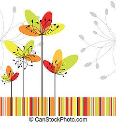 花, カラフルである, 抽象的, 春, ストライプ, 背景