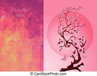 花, カード, sakura, 招待